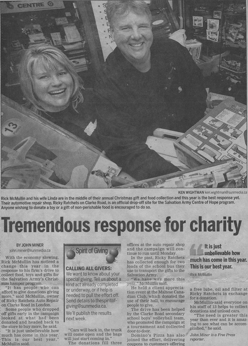 tremendous response for charity